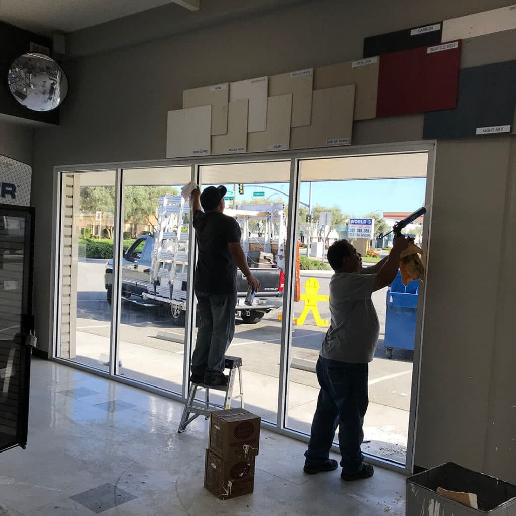anthonys glass and mirrors commercial installation storefront window replacement 03