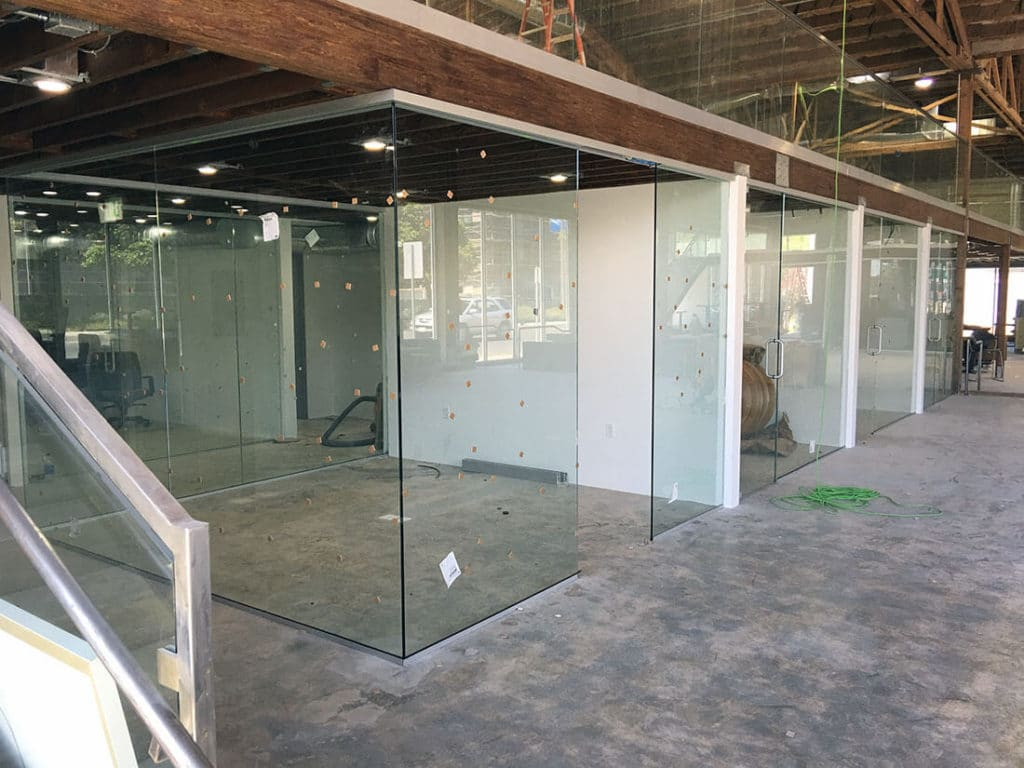 anthonys glass and mirrors commercial installation interior window replacement 06