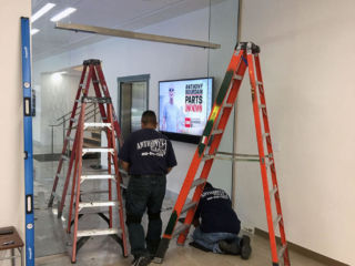 anthonys glass and mirrors commercial installation interior window replacement 05