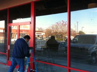 anthonys glass and mirrors commercial installation storefront window replacement