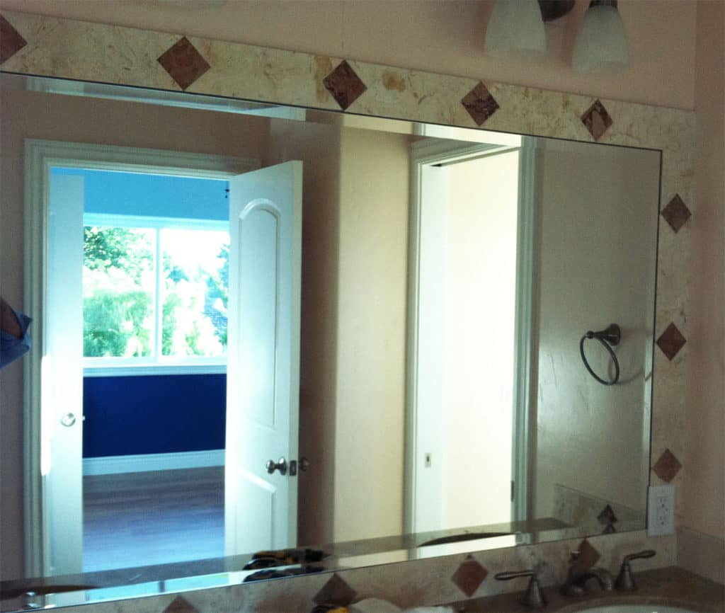 anthonys glass and mirrors residential installation mirror replacement