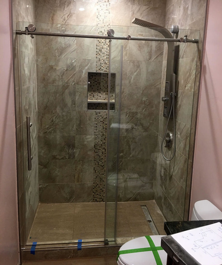 anthonys glass and mirrors residential installation shower door replacement 16