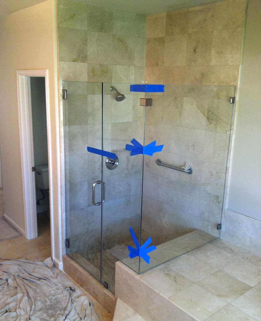 anthonys glass and mirrors residential installation shower door replacement 12