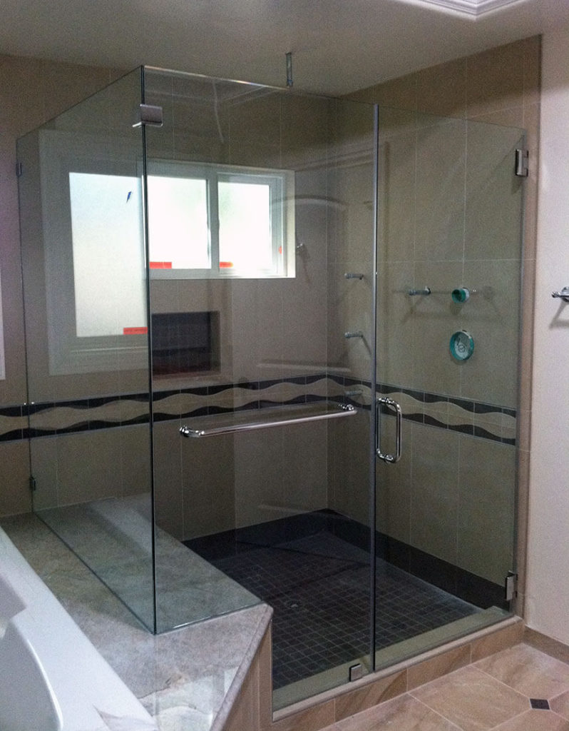 anthonys glass and mirrors residential installation shower door replacement 09