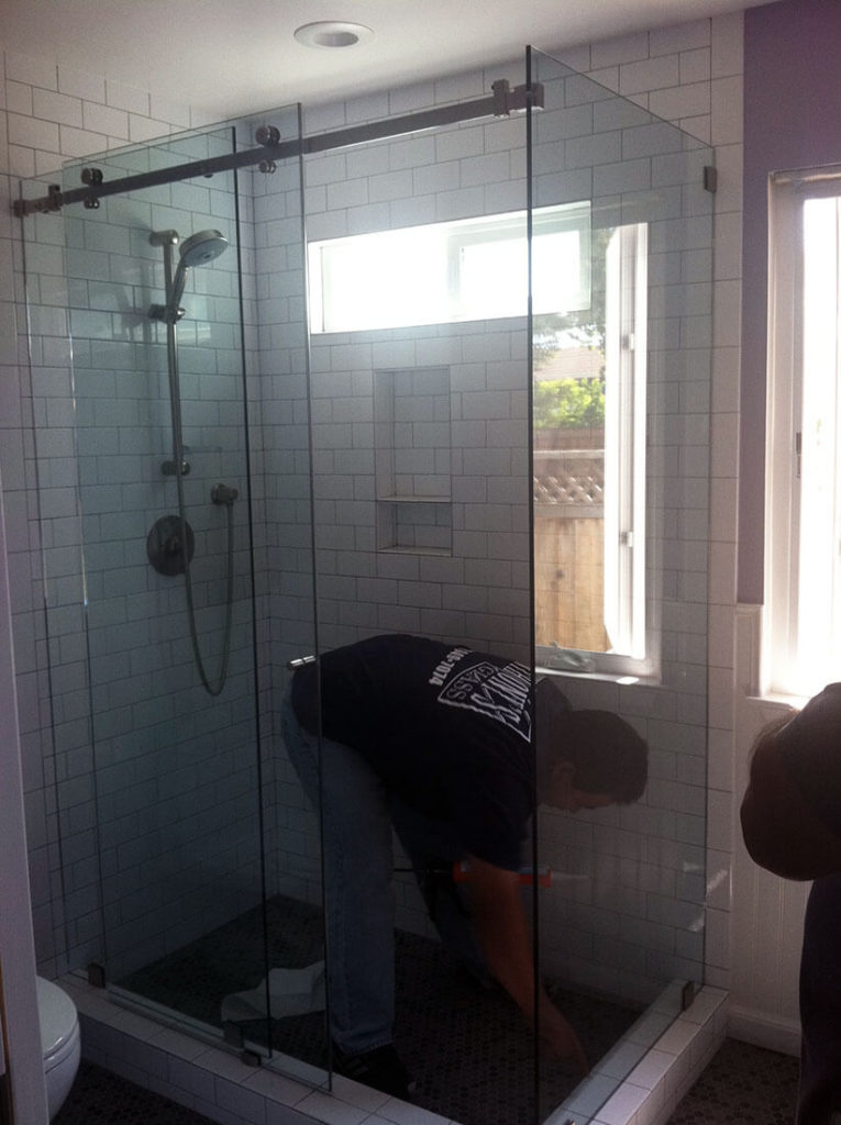anthonys glass and mirrors residential installation shower door replacement 08