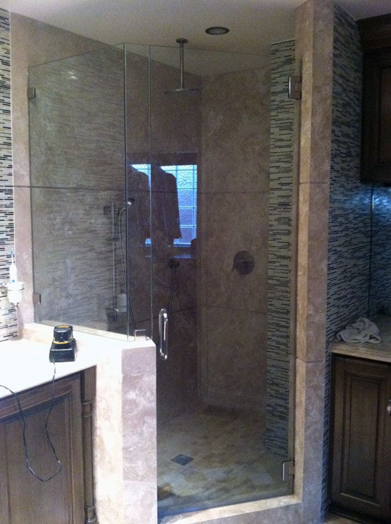 anthonys glass and mirrors residential installation shower door replacement 07
