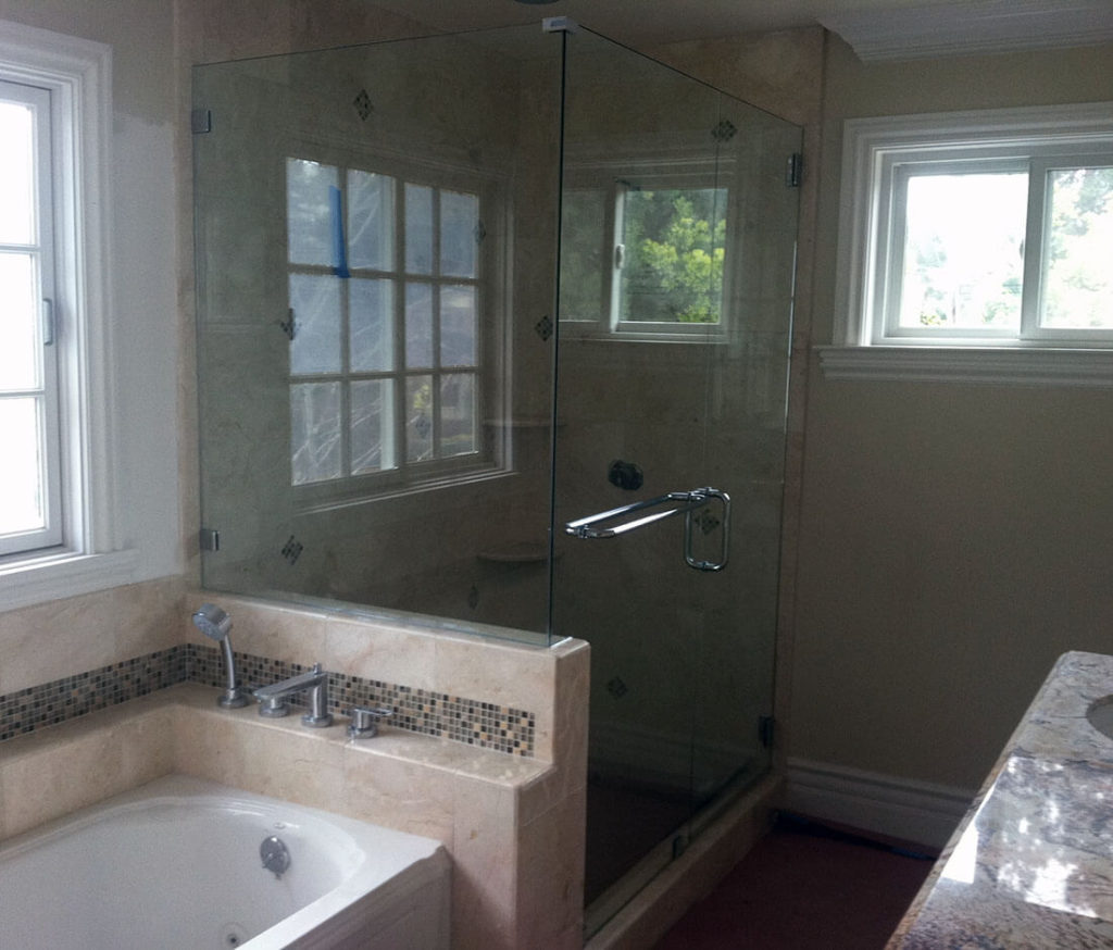 anthonys glass and mirrors residential installation shower door replacement 05