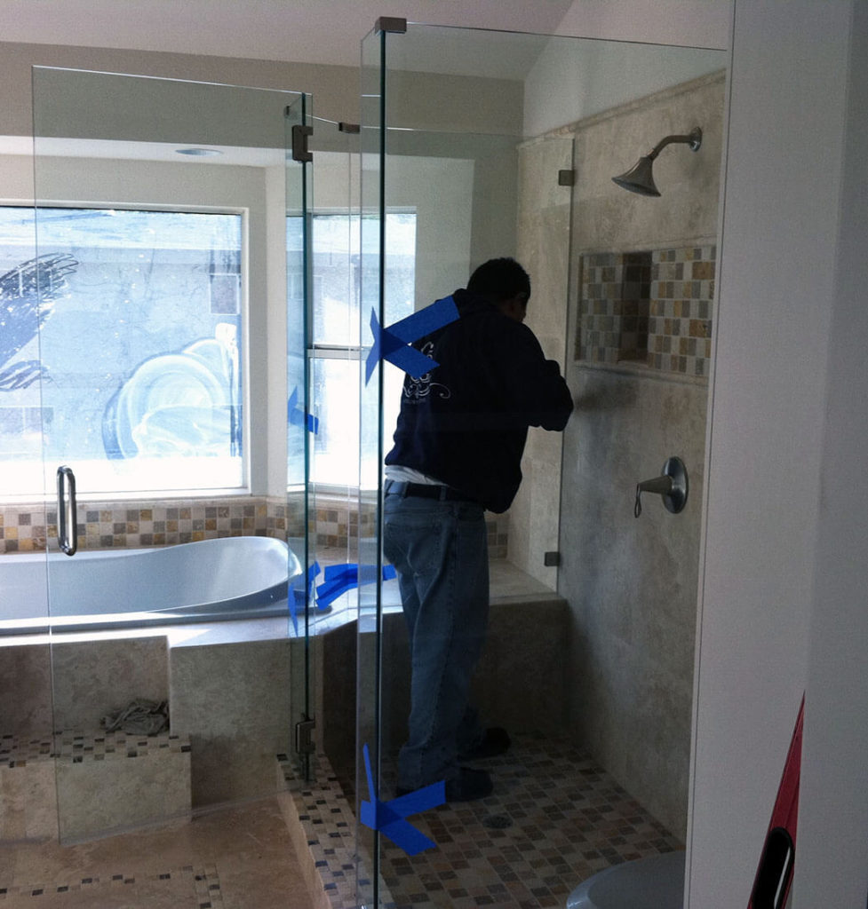 anthonys glass and mirrors residential installation shower door replacement 03