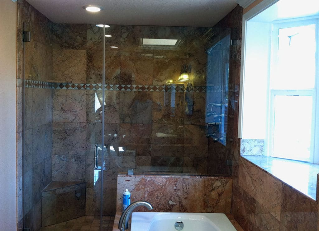 anthonys glass and mirrors residential installation shower door replacement 02