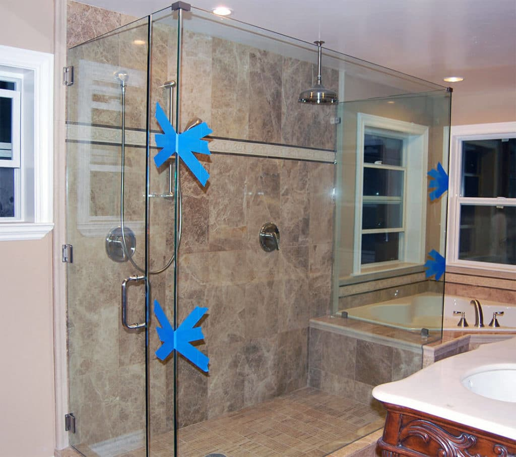 anthonys glass and mirrors residential installation shower door replacement