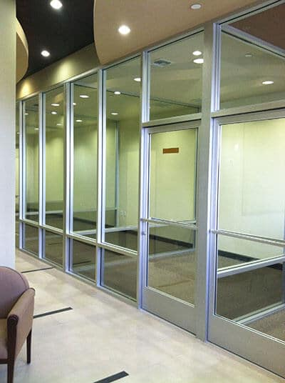 office interior glass replacement